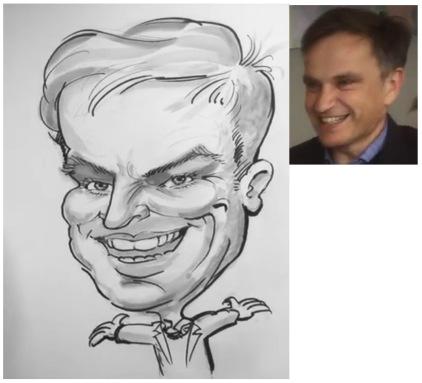 90 CAD - b/W one person - draw-caricature-from-photo-wedding-caricaturist-portrait-artist