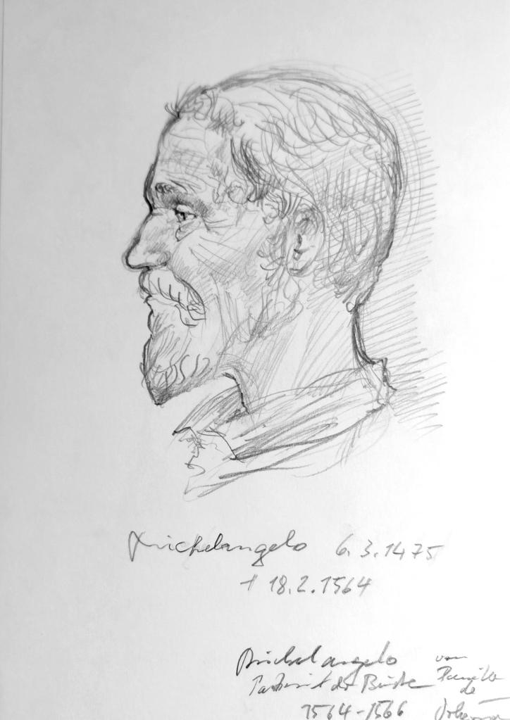 Michelangelo nach Studium einer Skulptur gezeichnet.The best, 2010